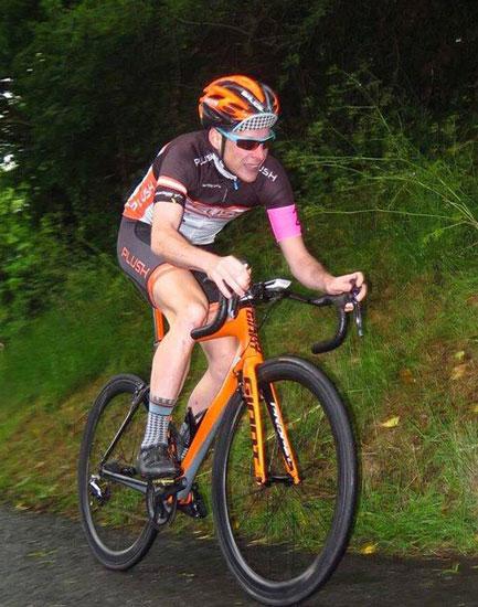 Lindsay Watson who won the Creightons Geen Hillclimb organised by Kinning Cycles